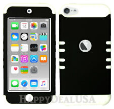 For Apple iPod Touch iTouch 5 6 - KoolKase Hybrid Silicone Cover Case BLACK (R)