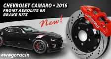 "Wilwood AERO6 Front Big Brake Kit Fits 16-17 Camaro,14"" Drilled Rotors,LT,SS,ZL1"