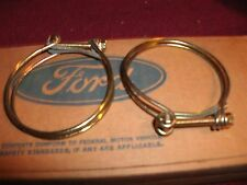 NOS 1963 - 1970 FORD GALAXIE XL LTD GAS FUEL TANK FILLER NECK HOSE CLAMPS SET