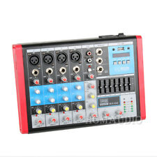 6 Channels Mixing DJ Sound Desk 48v Phantom USB EQ Equalizer Audio Mixer Console