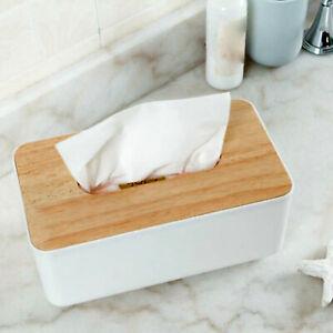 Tissue Box Cover Holder Napkin Paper Dispenser Storage Case Organizer Rectangle