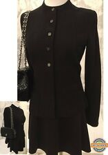 Chanel Basic Blazer Suit Work Office Top Black Classic Authentic Size 34 France