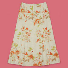 Per Una Linen Floral Regular Size Skirts for Women