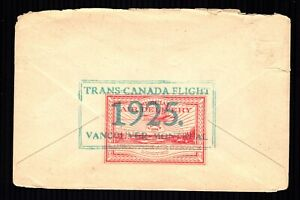 CL4 Old Cover Ail Mail  Canada used Vancouver-Montreal 1925