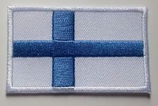 Finland Flag Patch Embroidered Iron On Applique Finnish Finn