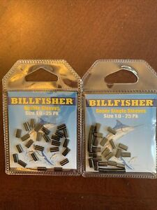 2 Packs Of 25 Billfisher Sea Striker 1.0B Double Sleeve 1.0mm Fishing Total 50