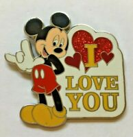 "Disney Pin Badge Mickey Mouse - Sign language ""I Love You"""
