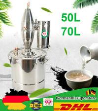 50L/70L Edelstahl Distiller Schnapsbrennen Wasser Alkohol Öle Destillieranlage
