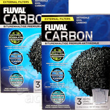 (2)Pk Fluval Activated Carbon Media External Filter 106 206 306 406 FX (3)x100g