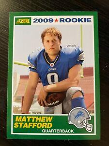 MATTHEW STAFFORD 2009 SCORE 1989 RETRO ROOKIE RC #1 (LIONS, RAMS) PANINI MATT