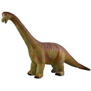 "Large 21"" (54cm) Rubber Dinosaur Brachiosaurus Realistic Details Jurassic Toy"