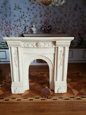 DOLLHOUSE MINIATURE ARTISAN HANDCRAFTED FIREPLACE RESIN SCALE  1:12