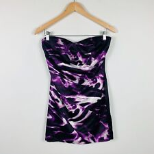Lipsy London Womens Dress Size 10 Cocktail Party Dress Purple Stretchy Short