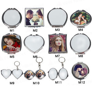 10pcs Blank Sublimation Mirror DIY Photo Makeup Mirror Sublimation Plate Gift
