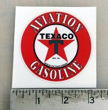 """Vintage Texaco Aviation Gasoline sticker decal 3"""" diameter"""