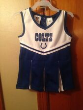 Indianapolis Colts  2 Piece NFL Kids Cheerleader V Neck Pleated Outfit size 2T