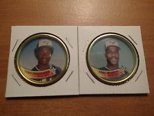 1989 Topps Baseball-COINS-Montreal Expos-TONY FERNANDEZ, FRED McGRIFF-Near Mint