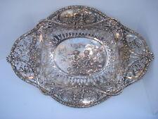 """19th Century German Silver Pierce Work  Basket """" Display Silver """" Hallmarked"""