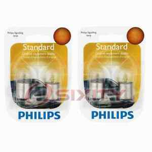 2 pc Philips Tail Light Bulbs for Saab 900 9000 99 1975-1998 Electrical no