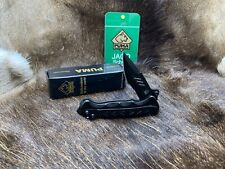 "Puma 4 3/4"" Tactical Knife With Black Handles Plain & Serrated Blade -  Mint Box"