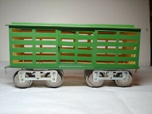 Lionel Standard Gauge Early Cattle Car #13 reproduction Jimmy Cohen flat sided