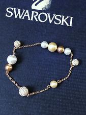 Swarovski Bracelet Rose Gold Plating Pearls Swarovski Crystals  R.V $95.00