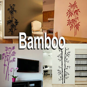 Bamboo Wall Stickers! - Home Vinyl Transfer - Graphic Art Decal / Decor Stencil