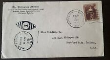 Philippines stamp 1940 Cover Mail KIANGAN MOUNTAIN PROVINCE POSTMARK