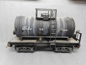 "LGB G Scale 4040C FOUR AXLE Tank Car ""White Pass"" Weathered"
