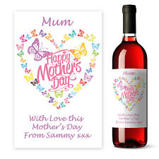 Personalised Happy Mother's Day Wine label gift