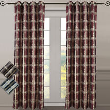 """(Set of 2) Studio Grommet Window Curtain Abstract Jacquard 104 """" Total Width"""