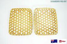 Set of 2 Japanese Style Handmade Bamboo Rectangular Storage Baskets