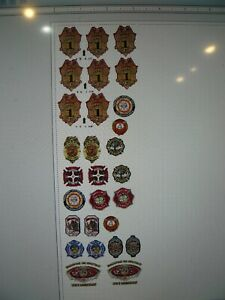 Indianapolis Fire Department Indiana  Badge Logo Variety Sheet  18 scale