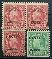 """United State>1924>Unused, Perf.10,11>USA General Issues OVP""""CANAL/ZONE""""."""