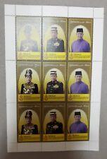 Malaysia 2018 Installation of Sultan Kedah Setenant Stamp Sheet MINT MNH