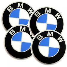 Original 4x BMW Radkappe Logo Emblem / Aufkleber / Plakette   Ø 60 mm