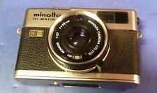 Minolta Hi-Matic F, Compact rangefinder camera LENS 1:27 F= 38MM PARTS N REPAIR