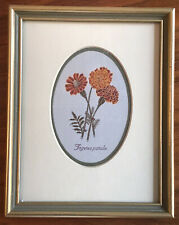 Home Decor Silk Rayon Wall Art, Hand Made Embroidery Picture, Floral English
