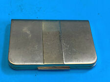 Old Vtg Collectible Gold Plated Lentheric Two Sided Makeup Compact with Mirror