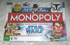 Star Wars Clone Wars Edition Monopoly Game Parker Brothers NEW