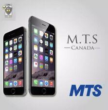 Canada MTS iPhone Xr Xs Xs Max Premium Factory Unlock Service