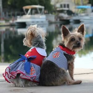 Sailor Boy Fabric Dog Harness with Leash - XS-L