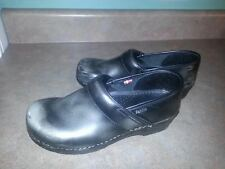 Sanita Professional Silver Leather Clogs Shoes Size 41