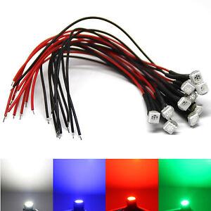 5050 SMD LED mit Kabel Widerstand weiß blau rot grün gelb LED Kabel 12V Volt DC