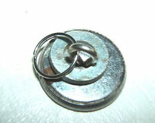 1 x USED 19mm OVERALL SILVER CHROME OLD SHANK BUTTONS WITH SPLIT RINGS WASHERS