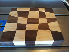 Drunken Cutting Board, made of Walnut and hard Maple woods, food safe finish
