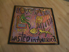 """LOVE/HATE-WASTED IN AMERICA [COLUMBIA12""""]LTD No 2886.ETCHED & WINDOW STICKER"""