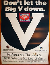 1996 Big V State of Origin Victoria vs The Allies large Poster
