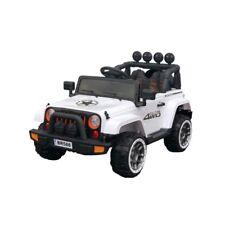 4X4 voiture quad jeep électrique enfant 2 places 12 V siège simili cuir blanc