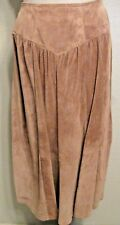 Suede Leather Skirt Size 40 or 8 Tan Light Brown Boho Western Hippie #1311 H